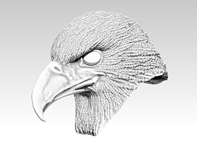 Eagle hawk falcon bird head 3D printable model