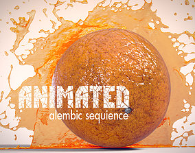 Orange Juice Explode Alembic Sequence 3D model