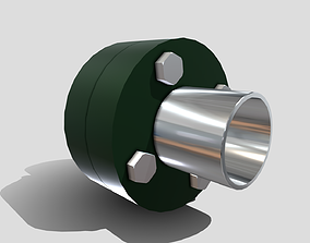 3D asset Machine - Pipe Flange