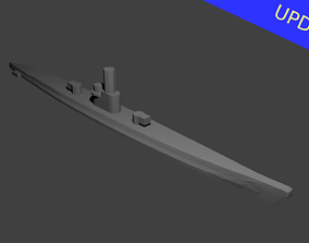 German Type IX Submarine 3D print model boat