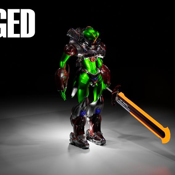 Sci-fi Dian Alien Robot Rigged