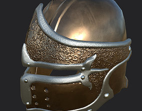 3D asset VR / AR ready Helmet with ornaments