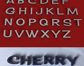 CHERRY uppercase and lowercase 3D Letters STL FILE