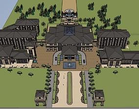 villa hotel 3D