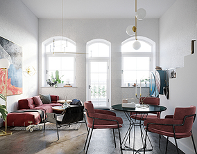 Scandinavian Style House - S63 - Idea 3D model animated