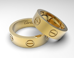 3D print model Popular rings called Love sizes 14 and 24 2