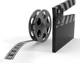 realtime Film Reel and Cap Model