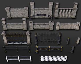 Fences Pillars Hitching Posts Gates 2 - 107 3D model 2