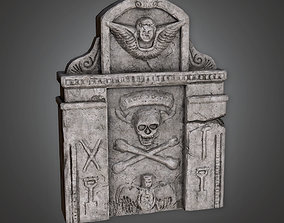 3D model Grave Stone Cemetery 12 CEM - PBR Game Ready