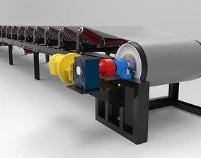 3D model Belt conveyor machine