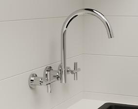 Tap Sets from Par Taps Portsea range Bathroom 3D model 2