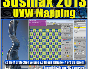 uvw 3dsmax 2013 UVW Mapping v 8 Italiano cd front