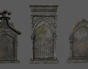 Bloodborne Tombstones 3D asset