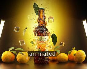 Orange Soda Splash 3D