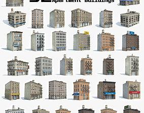 3D model 32 Apartment Buildings Collection