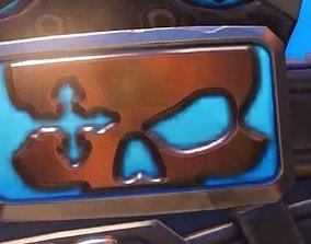 Royal Mccree s belt buckle 3D PRINTING FILE