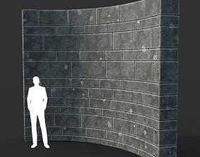 Low poly Ancient Dragon Temple Element 15 3D asset