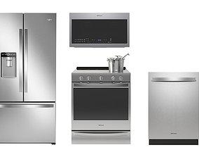 3D range Whirlpool kitchen appliances