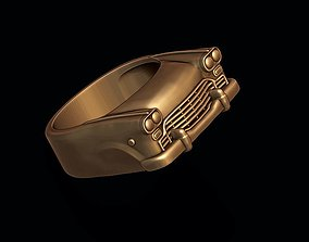 3D printable model car ring 12