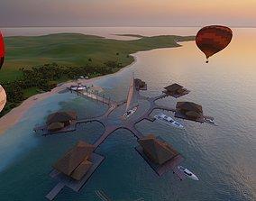 3D model Beach resort designed in Revit 2021 and lumion 10