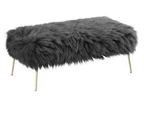 Mongolian fur Natural Curly Hair Tibet Lamb Fur 3D