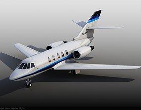 Falcon 20 private aircraft 3D