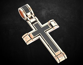 Cross with stones under enamel 143 3D printable model