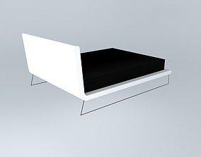 Upholstered bed 3D