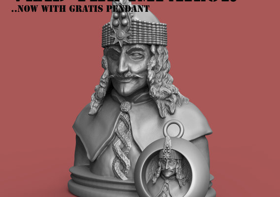 The Vlad Tepes headbust , now with gratis Vlad Pendant