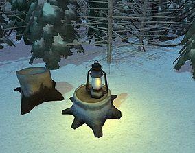 Forest Hunter Cabin 3D asset realtime