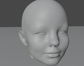 3D Realistic Young Human Girl Face - Manifold - 3d-print