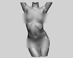 Dynamic Female Torso 3D print model human