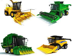 3D model 4 Combine Machines