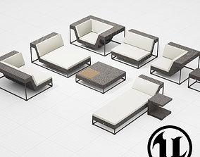 Dedon Zofa Set UE4 3D model
