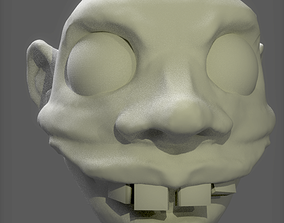 Comic Head for 3D Print