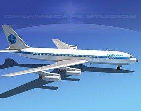 Boeing 707 Pan Am 3D model