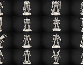 3D model Gundam Minature Collection