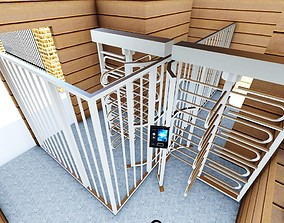 Office Entrance Hall - Secured with security 3D model
