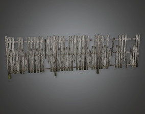 3D asset Outdoor Fence 05 GFS - PBR Game Ready