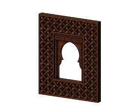 Moroccan moucharabieh mirror 3D print model