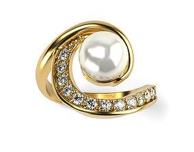 3D printable model Swirl Pearl Ring