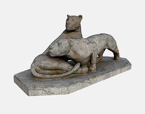 3D model Lions Statue