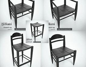 3D 5 model pack - Billiani Vincent VG black wood