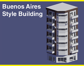 3D model Buenos Aires Style Building 7