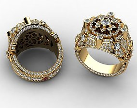 Diamond Rings for Men 3D print model