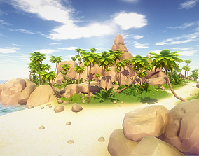 3D asset Tropical Environment Pack