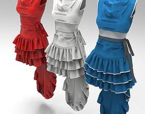 3D Marvelous Designer Garment - 08 Blue Dress
