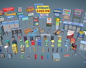 Street Props Set A 3D asset