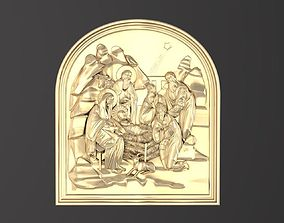 3D printable model Icon The birth of Christ 049