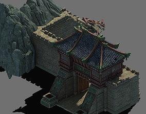 Family defense battlefield - city gate 3D model pavilion
